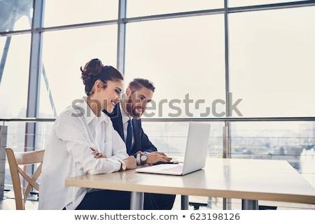 üzlet · pár · dolgozik · iroda · család · férfi - stock fotó © toocan