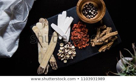 chinês · tradicional · erva · ingredientes · velho - foto stock © marilyna