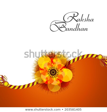 Raksha Bandhan colorful rakhi background wave vector illustratio Stock photo © bharat