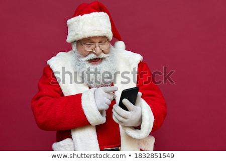 Navidad · celular · blanco · fiesta · hombre - foto stock © novic
