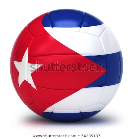 cubaans · volleybal · team · geïsoleerd · achtergrond - stockfoto © bosphorus