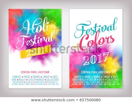 Abstrato brilhante colorido cartão festival vetor Foto stock © bharat