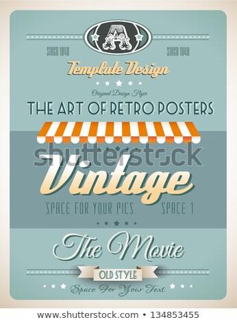Vintage retro página plantilla variedad sitio web Foto stock © DavidArts