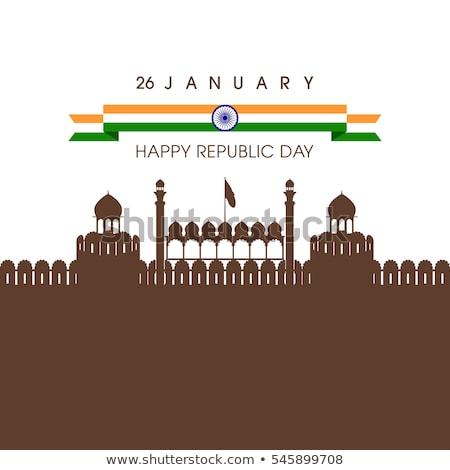 Hermosa feliz república día indio bandera Foto stock © bharat