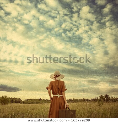 beauty girl  in a old-fashioned dress in a forest  Stock photo © mady70