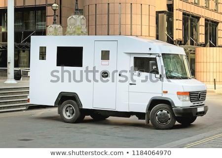 Transporte dinheiro isolado branco abstrato assinar Foto stock © nemalo