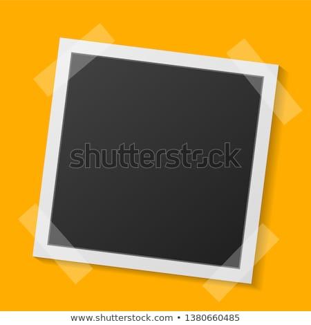 Foto stock: Polaroid · escuela · pared · tecnología · negro · retro
