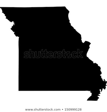 Carte Missouri bleu Voyage Amérique USA Photo stock © rbiedermann
