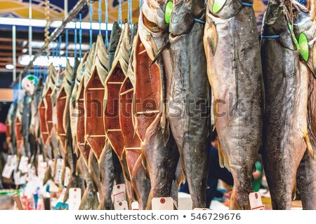 dried fish in market for sale stock photo © frameangel