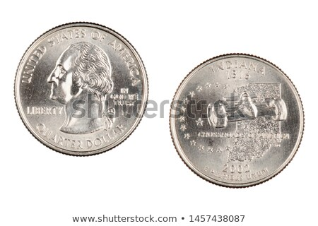 Indiana State Commemorative Quarter Coin Stock photo © pancaketom