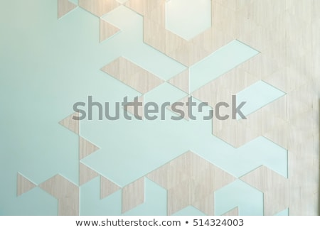 wooden wall with papers stock photo © compuinfoto