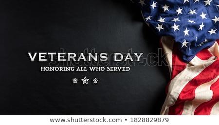Dag vakantie amerika witte oorlog vlag Stockfoto © mayboro1964