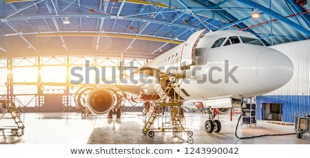 part of airliner at the airport stock photo © ssuaphoto