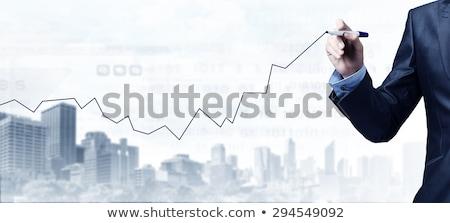 Inicio azul marcador mano escrito transparente Foto stock © ivelin