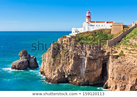 Coast of Sagres in Portugal Stock photo © Li-Bro