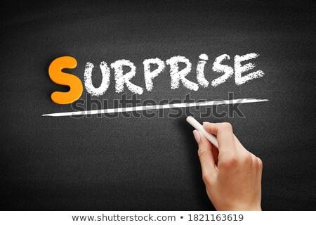 Blackboard with the text unprepared Stock photo © Zerbor