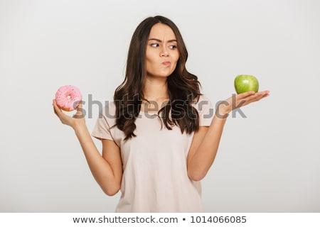 fiatal · lány · centiméter · diétázás · nő · lány · kezek - stock fotó © elnur