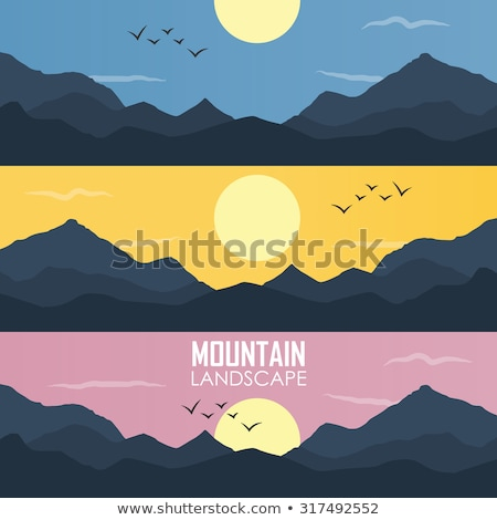 the simple layers of the smokies at sunset   smoky mountain nat stock photo © alex_grichenko
