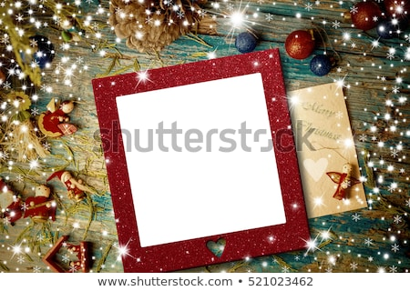 Christmas Card Angel with empty photo frame  Stock photo © marimorena