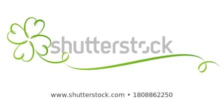 Clover Leaf Frame border Stock photo © Lightsource