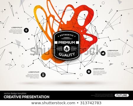 фрактальный геометрический дизайна лист фон Сток-фото © shawlinmohd