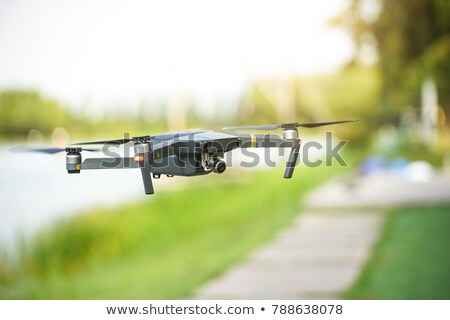Helicopter drone filming video Stock photo © Kor