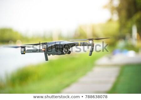 helikopter · video · vliegen · blauwe · hemel · hemel · technologie - stockfoto © Kor