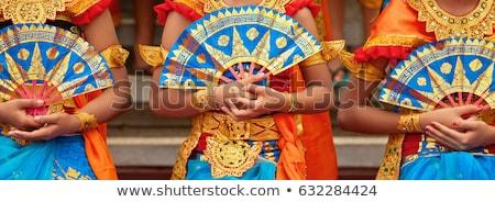 Detalle colorido patrón templo bali Indonesia Foto stock © dinozzaver