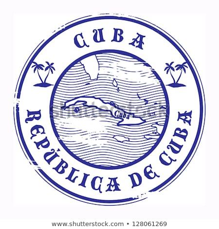 Przycisk symbol Kuba banderą Pokaż biały Zdjęcia stock © mayboro1964