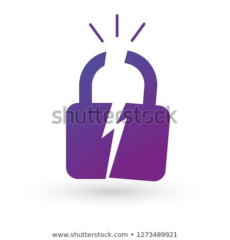 sicurezza · lucchetto · catena · isolato · bianco - foto d'archivio © ozaiachin