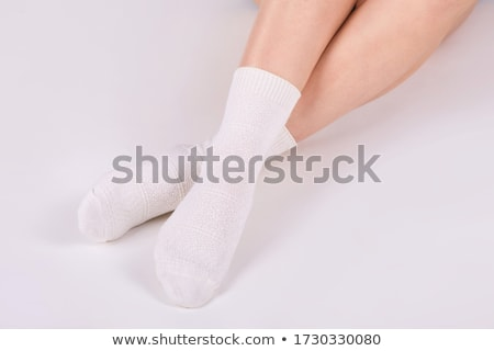 Stock fotó: Zokni · izolált · fehér · gyermek · fotó · pamut