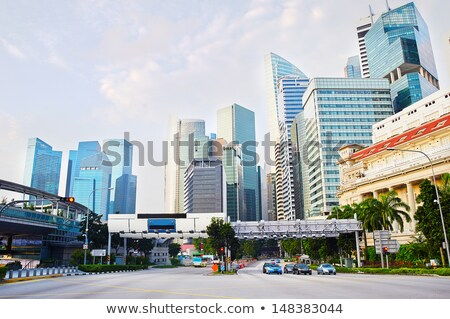 Foto stock: Busy Highway Singapore