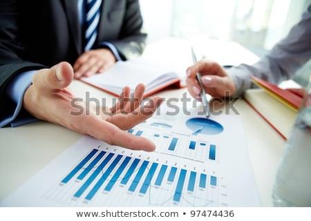 Business risultati mercato azionario infografica grafico Blur Foto d'archivio © stevanovicigor