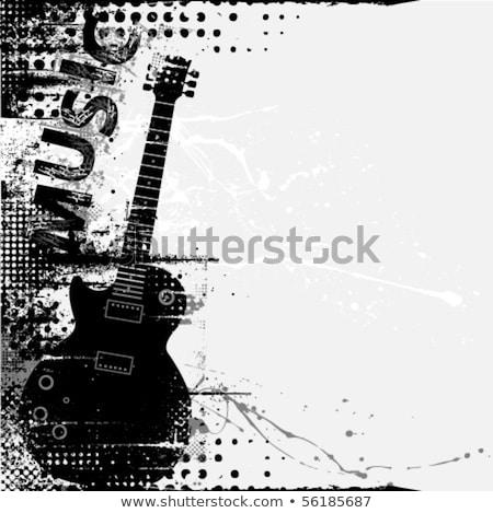 music grunge frame stock photo © oblachko