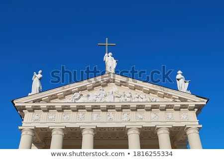 The Cathedral Square in central Vilnius Stock photo © 5xinc