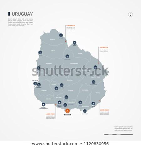 Narancs gomb kép térképek Uruguay űrlap Stock fotó © mayboro