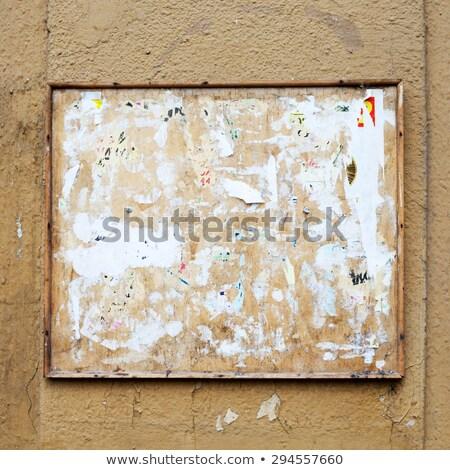 öreg közlöny tábla papír fa absztrakt Stock fotó © Taigi