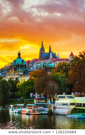 Velho Praga cityscape noite tempo céu Foto stock © AndreyKr