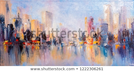 night view painting abstract blue background stock photo © kheat
