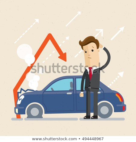 Man standing near broken car  Stock photo © deandrobot