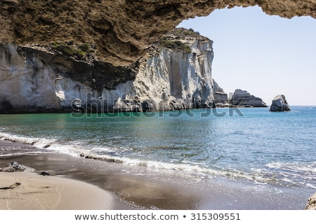 Gerontas beach at Milos island, Cyclades, Greece Stock photo © ankarb