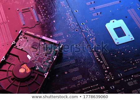 Close-up of the opened Hard Disk Drive Stock photo © jordanrusev