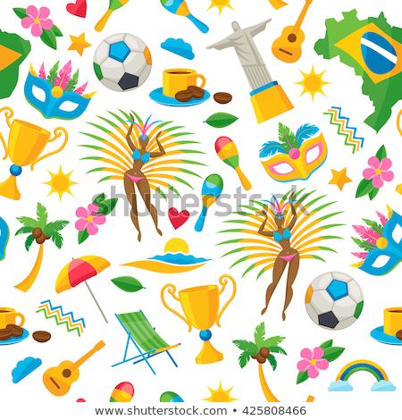 Brezilya · simgeler · toplama · ayarlamak · dizayn · yalıtılmış - stok fotoğraf © marish