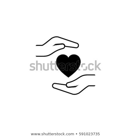 Szívbetegség megelőzés ikon terv izolált illusztráció Stock fotó © WaD