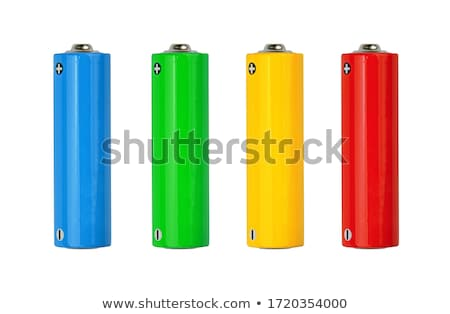 blue and green AA batteries Stock photo © shutswis