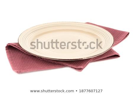 Kitchenware On Purple Towel ストックフォト © ruzanna