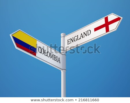 United Kingdom and Colombia Flags Stock photo © Istanbul2009