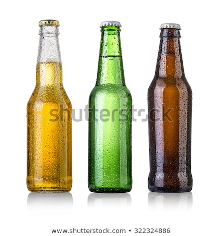 Beer bottle isolated on white background Stock photo © ozaiachin