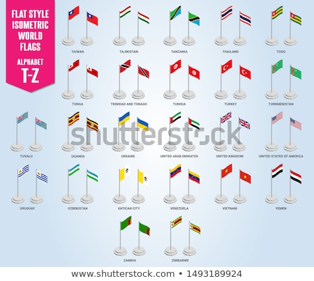 Stock photo: United Kingdom and Tuvalu Flags