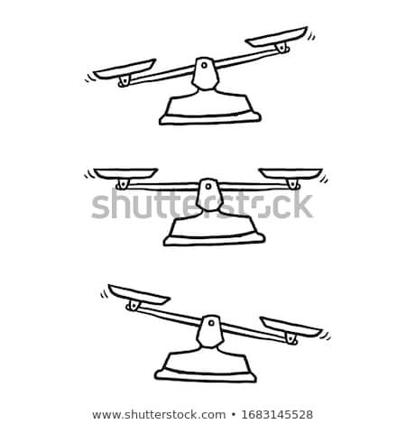 Doodle Scales icon. Stock photo © pakete